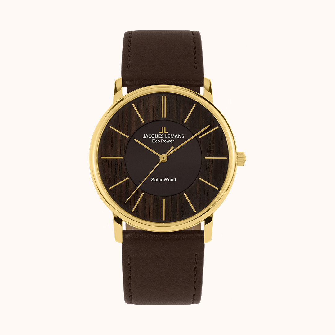 Goldschmiede Stößel | Gold- und Silberschmiede Uhren und Schmuck | Gerolzhofen – Jacques Lemans Eco Power Solar Wood Armbanduhr